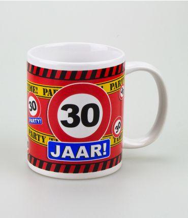Funny Mugs - verkeersbord 30 jaar