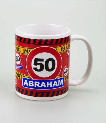 Funny Mugs - verkeersbord abraham