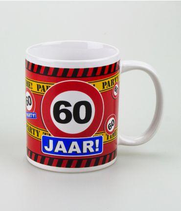 Funny Mugs - verkeersbord 60 jaar