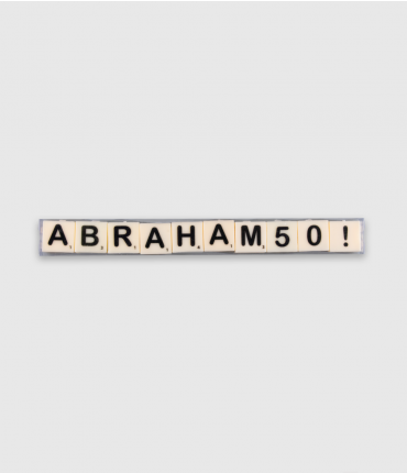 Letterkaarsjes tekst - Abraham 50
