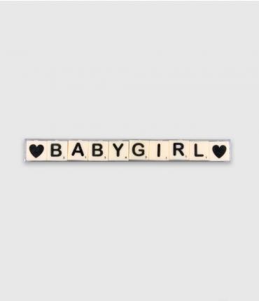 Letterkaarsjes tekst - Baby girl