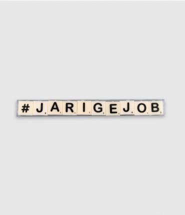 Letterkaarsjes tekst - Jarige job