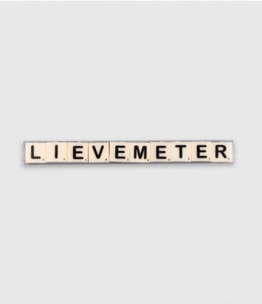 Letterkaarsjes tekst - Lieve meter