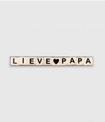 Letterkaarsjes tekst - Lieve papa