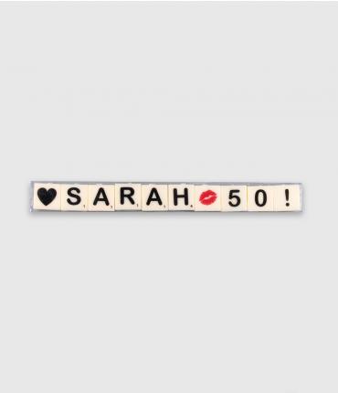 Letterkaarsjes tekst - Sarah 50