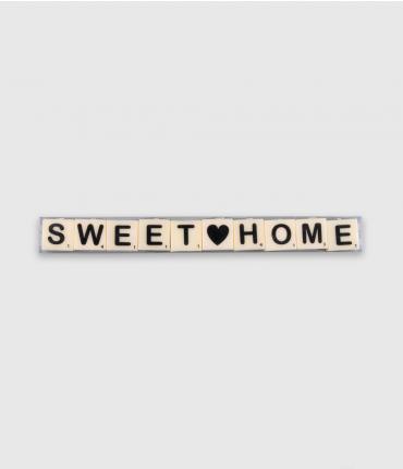 Letterkaarsjes tekst - Sweet home