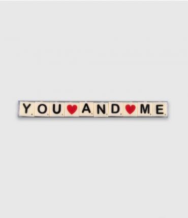 Letterkaarsjes tekst - You and me