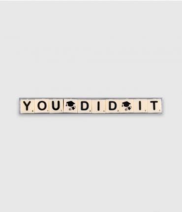 Letterkaarsjes tekst - You did it
