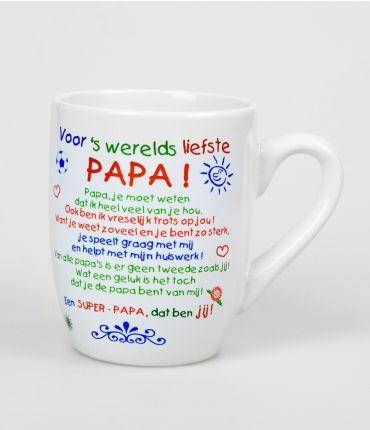 Kleur tekstmok  Papa