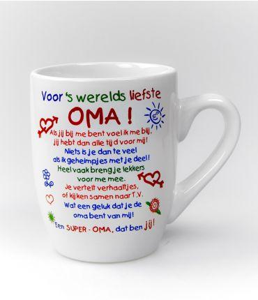 Kleur tekstmok  Oma