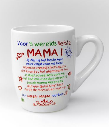 Kleur tekstmok  Mama