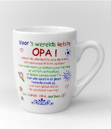 Kleur tekstmok  Opa