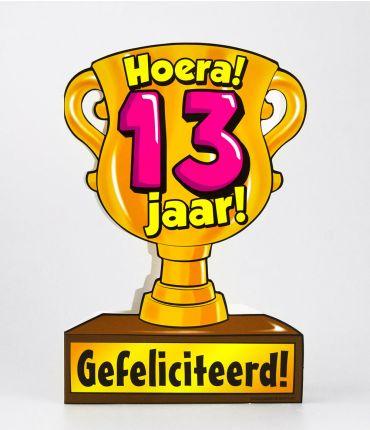 Trofee kaart - 13 jaar