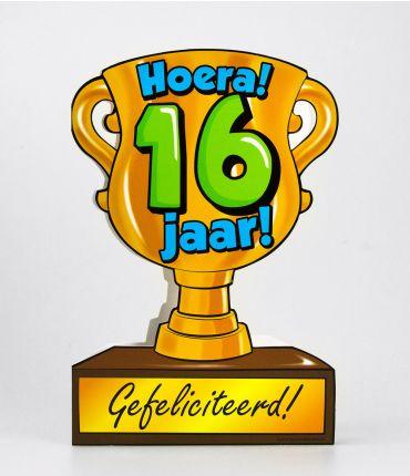 Trofee kaart - 16 jaar