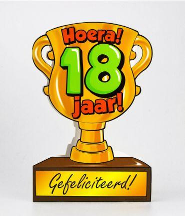 Trofee kaart - 18 jaar