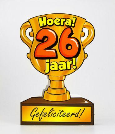Trofee kaart - 26 jaar