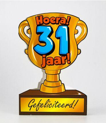 Trofee kaart - 31 jaar