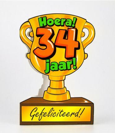 Trofee kaart - 34 jaar