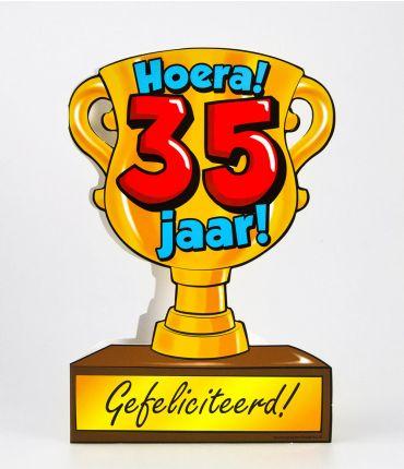 Trofee kaart - 35 jaar
