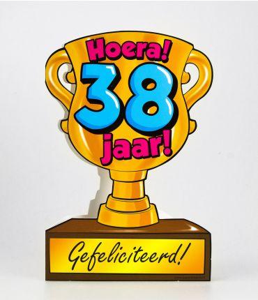 Trofee kaart - 38 jaar