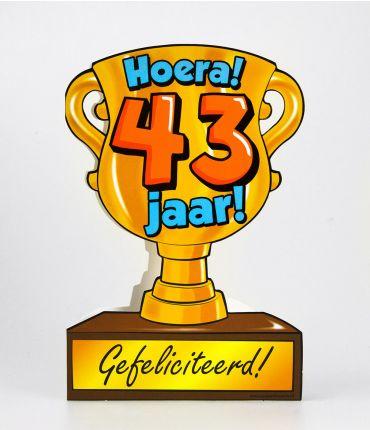 Trofee kaart - 43 jaar
