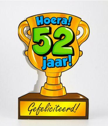 Trofee kaart - 52 jaar