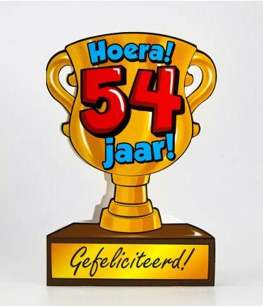 Trofee kaart - 54 jaar