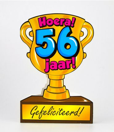 Trofee kaart - 56 jaar