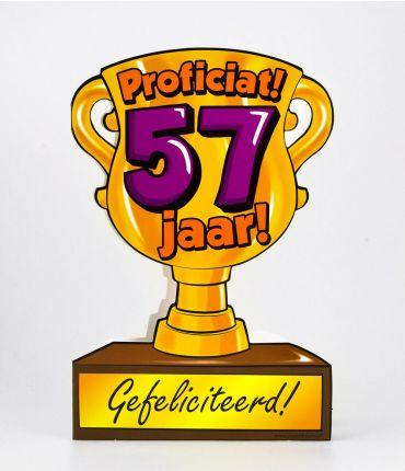 Trofee kaart - 57 jaar