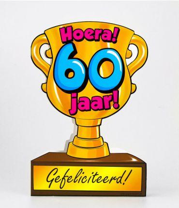 Trofee kaart - 60 jaar