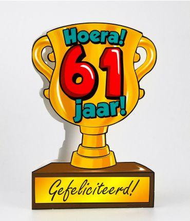 Trofee kaart - 61 jaar
