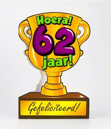 Trofee kaart - 62 jaar