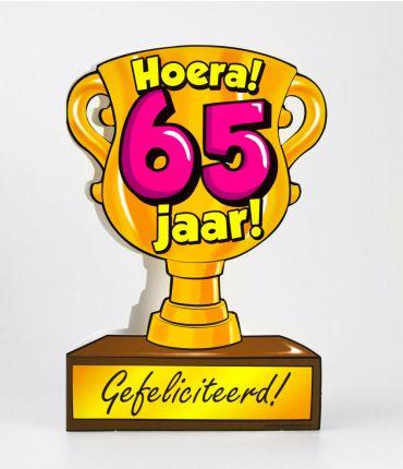 Trofee kaart - 65 jaar