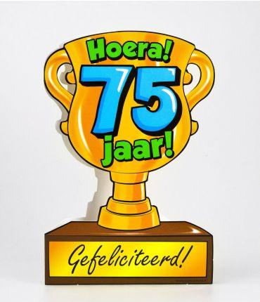 Trofee kaart - 75 jaar