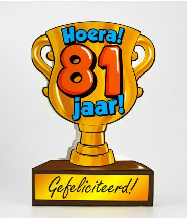 Trofee kaart - 81 jaar