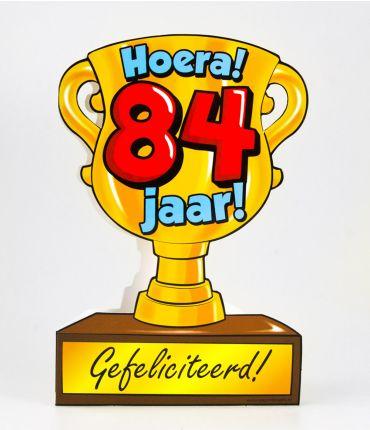 Trofee kaart - 84 jaar