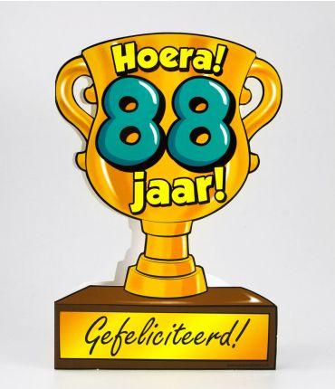 Trofee kaart - 88 jaar