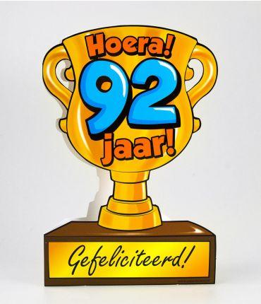 Trofee kaart - 92 jaar