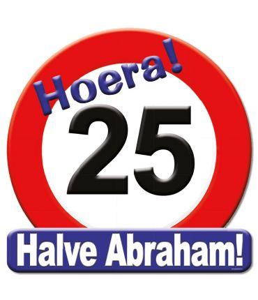 Huldeschild - 25 jaar halve Abraham