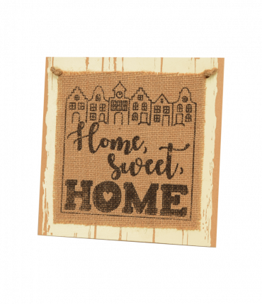 Wooden sign - Home sweet home