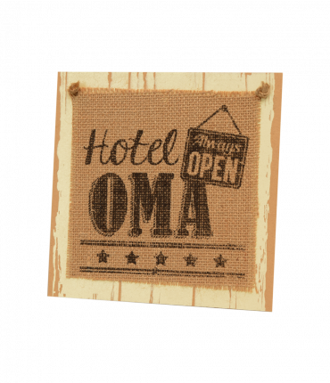 Wooden sign - Oma