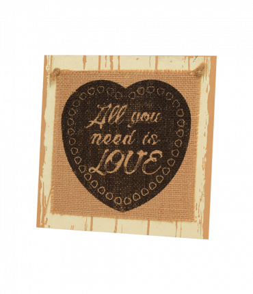 Wooden sign - All you need is love