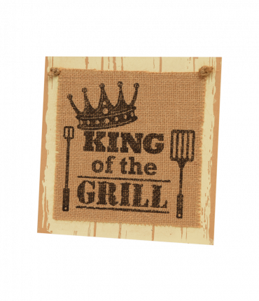 Wooden sign - King of the grill