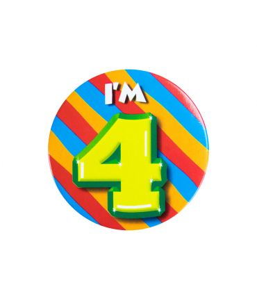 Button klein - i'm 4