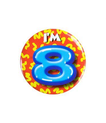 Button klein - i'm 8