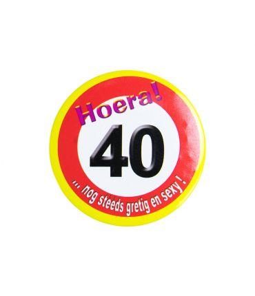 Button klein - 40 jr verkeersbord