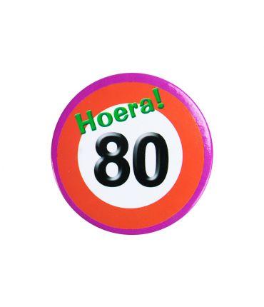 Button klein - 80 jr verkeersbord