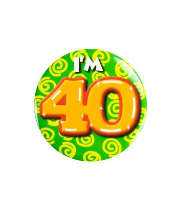 Button klein - i'm 40