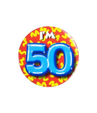 Button klein - i'm 50