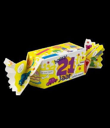 Kado/Snoepverpakking nieuw - 21 jaar
